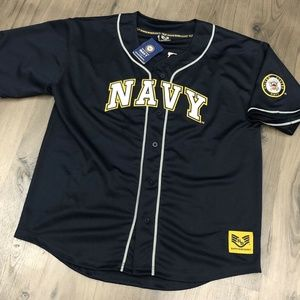 Other - NWT US Navy Baseball Jersey Stitched Mens XL